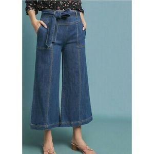 Anthro High Waist Wide Leg Crop